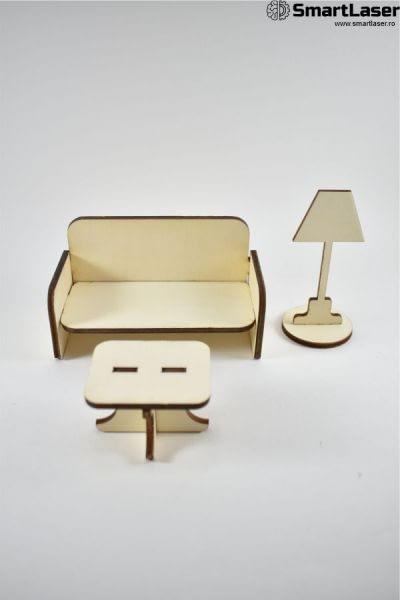 mobila jucarie canapea cu masuta