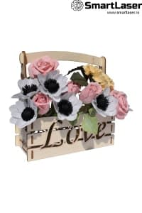 Cutii Flori Ladita Lemn Love