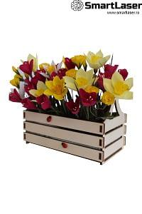 Cutii Flori Ladita Lemn Clasica