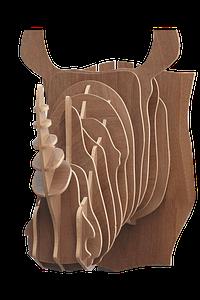 Decoratiuni Lemn Perete Rinocer