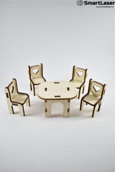 mobila jucarie masa cu scaune
