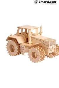 Tractor Jucarie Lemn