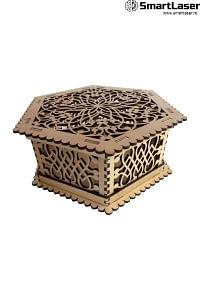 Cutii Lemn Personalizate Hexagonale