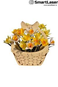 Cutii Flori Lemn Cosulet