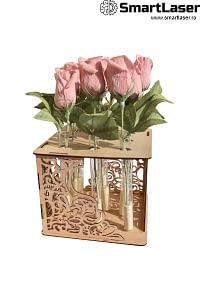 Cutii Lemn Flori Suport Eprubete
