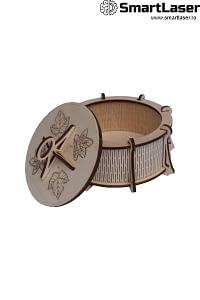Cutii Lemn Personalizate Rotunde