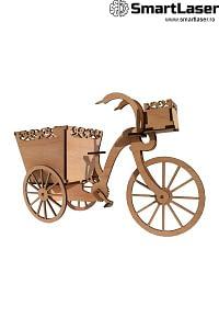 Cutii Flori Decorative Bicicleta Lemn