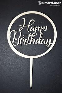 Toppere Lemn Happy Birthday Cerc