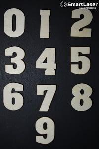 Cifre din Lemn – Set 50 Piese