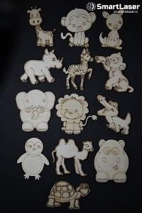 Figurine Animale Exotice – Set 13 Figurine Lemn
