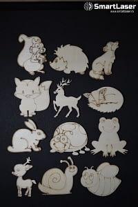 Figurine Animale Salbatice Autohtone – Set 12 Figurine Lemn