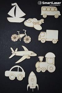 Figurine Mijloace Transport – Set 9 Figurine Lemn