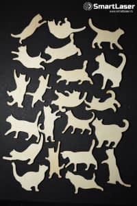 Figurine Pisicute – Set 21 Figurine Lemn
