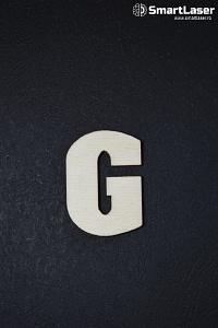 Litera Lemn Mare G – Litere din Lemn