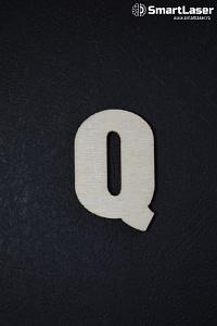 Litera Lemn Mare Q – Litere din Lemn