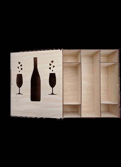Cutii Lemn Vin Personalizate