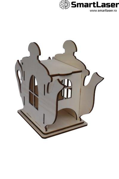 Cutii Lemn Personalizate Ceainic